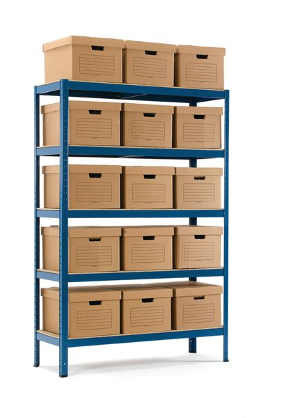 Industrial Shelving 18 Document Boxes Shelving
