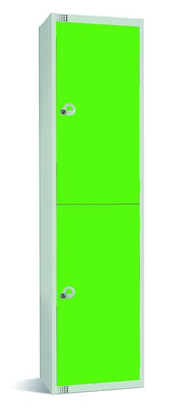 Large Two Tier Locker - Grey And Green Lockers