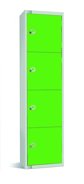 Large Four Tier Locker - Grey And Green Lockers