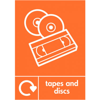 A5 Tapes And Discs Self Adhesive Vinyl Safety Labels