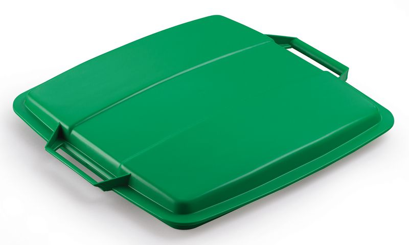 Recycling Container 90 Litre Lid Green Storage Containers