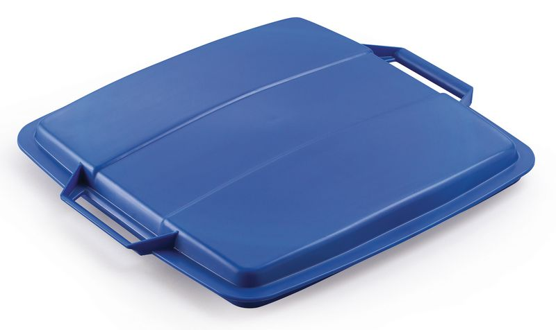 Recycling Container 90 Litre Lid Blue Storage Containers