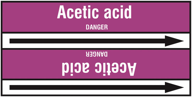 Acetic Acid 127 x 33 mm Rl T2  Pipemarkers