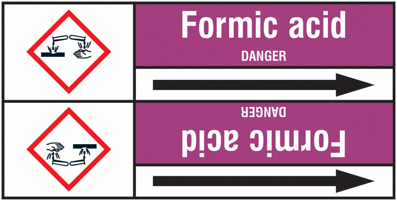 Formic Acid 127 x 33 mm Rl T2  Pipemarkers