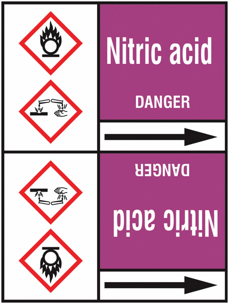 Nitric Acid 127 x 33 mm Rl T2  Pipemarkers