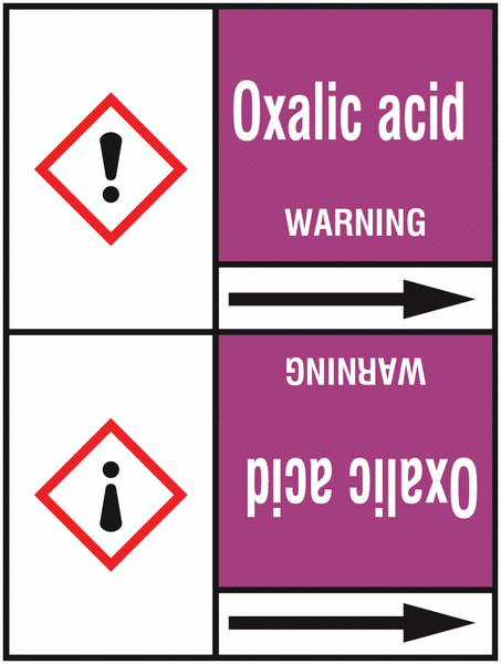 Oxalic Acid 127 x 33 mm Rl T2  Pipemarkers