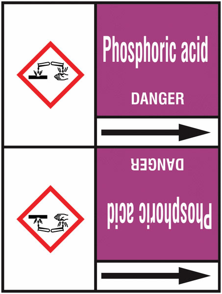 Phosphoric Acid 127 x 33 mm Rl T2  Pipemarkers