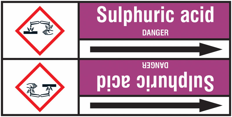 Sulphuric Acid 127 x 33 mm Rl T2  Pipemarkers