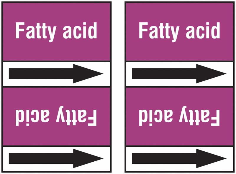Fatty Acid 100 x 33 mm Ral European Standard T2-P21 Pipemarkers