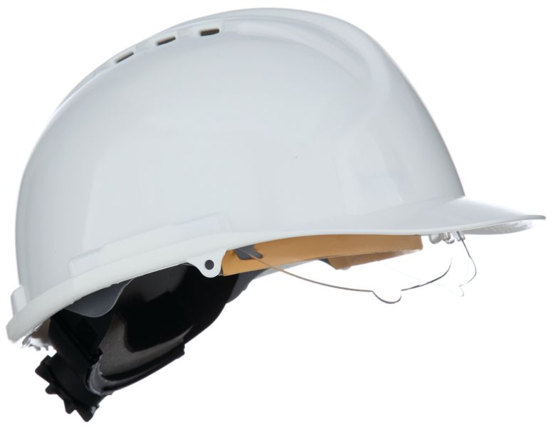 Mark7 Helmet With Wheel Ratchet White Helmets