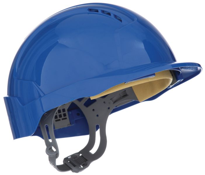 Evolite Vented Slip Ratchet Helmet Blue Helmets