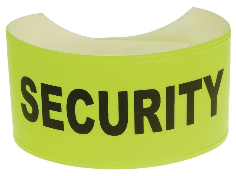Fluorescent Pvc Standard Yellow Armband 460 x 75 mm Security Armbands