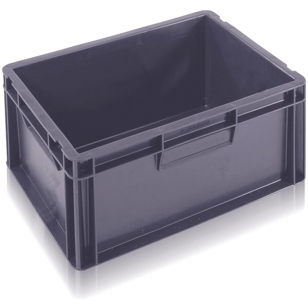 Extra Small Euro Container Solid 15 Litre Grey Storage Containers