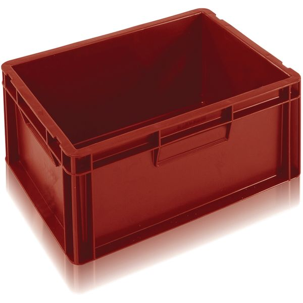 Extra Small Euro Container Solid 15 Litre Red Storage Containers