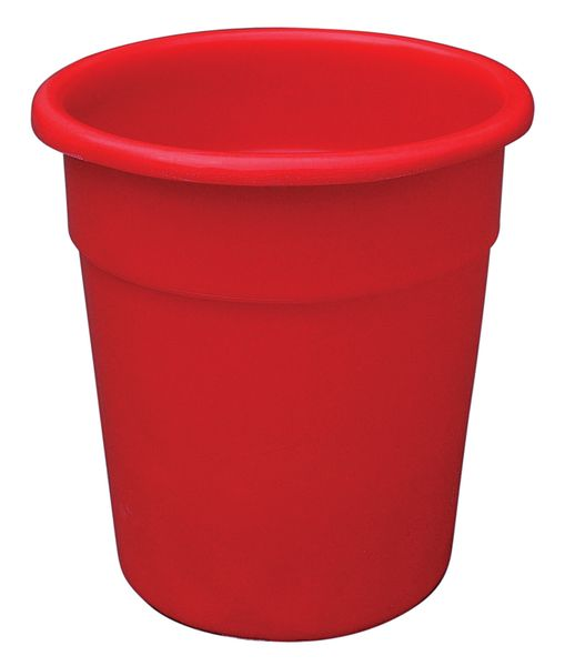 Red Tapered-Sided Cylinder Bin 20 Litre Bins