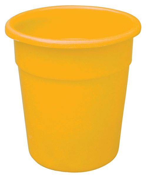 Yellow Tapered-Sided Cylinder Bin 20 Litre Bins