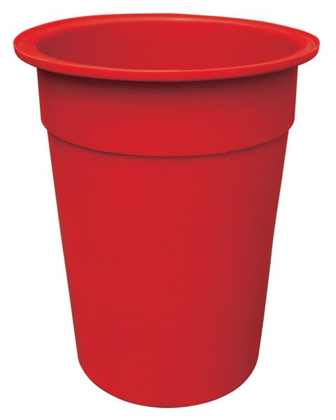Red Tapered-Sided Cylinder Bin 250 Litre Bins