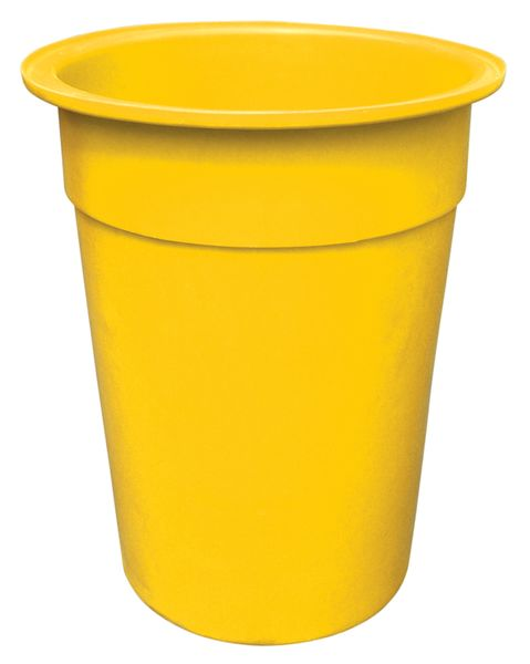 Yellow Tapered-Sided Cylinder Bin 250 Litre Bins