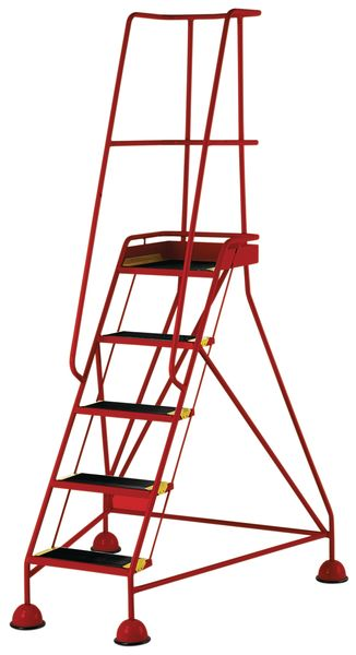 5 Tread Mobile Red Bs En 131-7 For Stairs