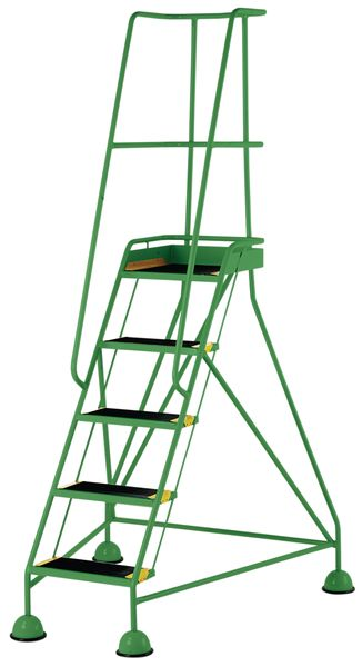 5 Tread Mobile Green Bs En 131-7 For Stairs