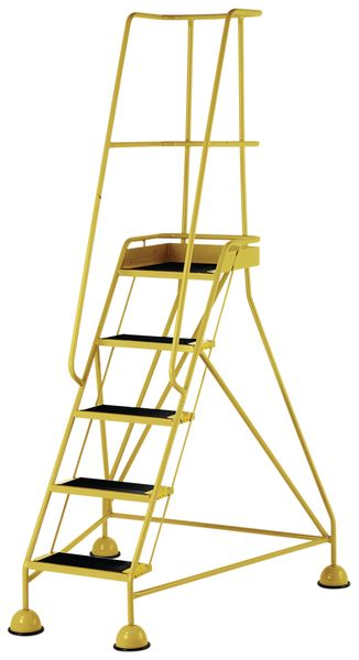5 Tread Mobile Yellow Low Bs En 131-7 For Stairs