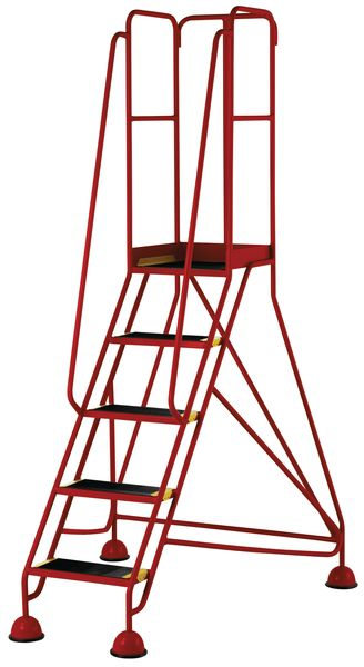 5 Tread Prem Mobile Red Bs En 131-7 For Stairs