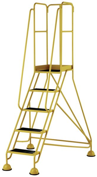 5 Tread Prem Mobile Yellow Bs En 131-7 For Stairs