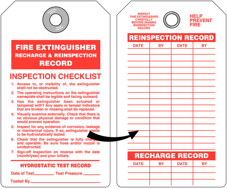 Extinguisher Recharge Record Aluminium Pack of 25 Fire Extinguishers