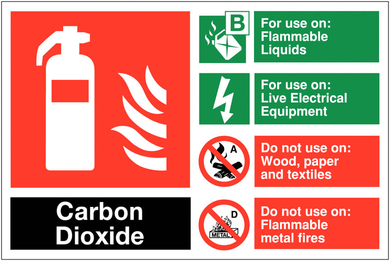 100 x 150 Carbon Dioxide For Use On Safety Signs