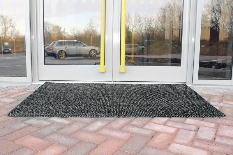 Outdoor Scraper Mat 0.9 x 1.5M Grey Mats