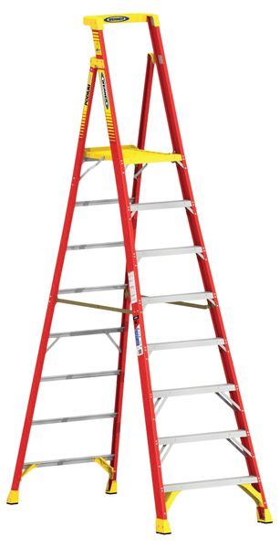Fibreglass Podium Step Ladder 8 Tread For Stairs