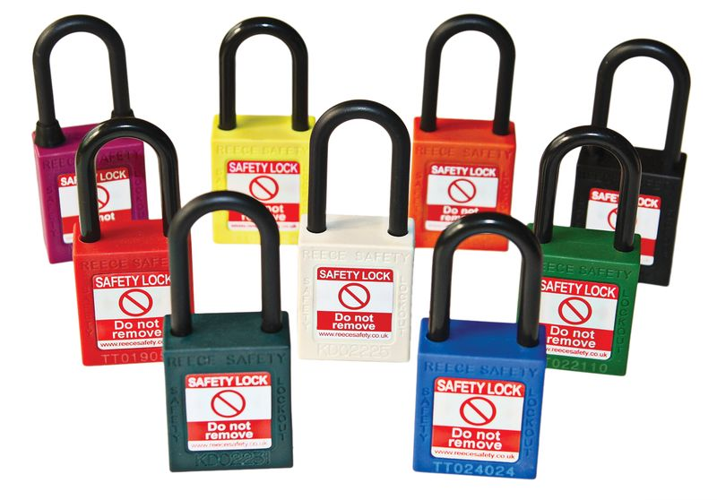 Nylon Body Safety Padlock Plastic Black Padlocks