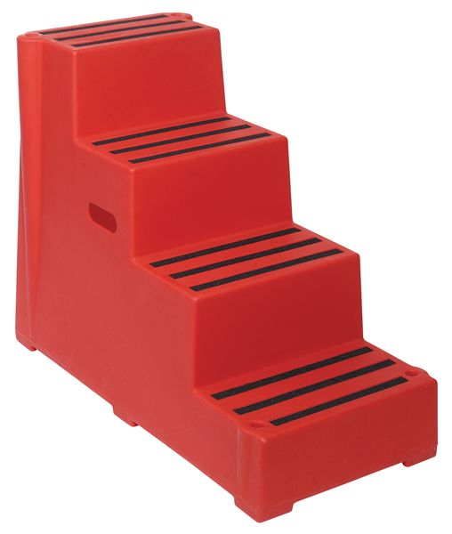 Safety Step 4 Tread Red For Stairs