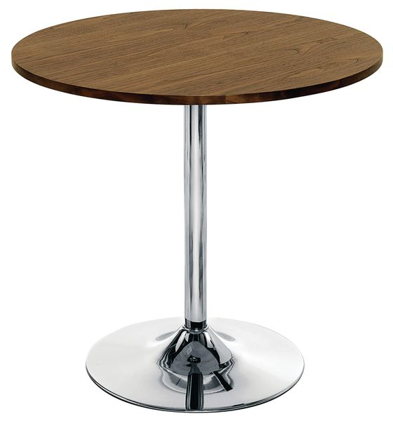 Express Bistro Funnel Table Walnut Tables