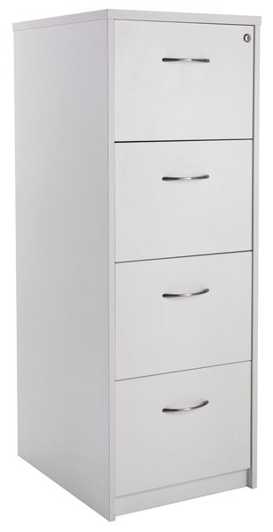 Concept 4 Drw Filing Cabinet White 1360 mm Height Cabinet