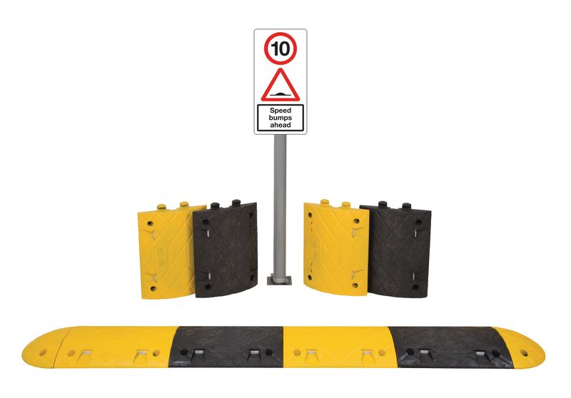 4.3M 10Mph Speed Bump Kit Tarmac With Sign Speed Bumps