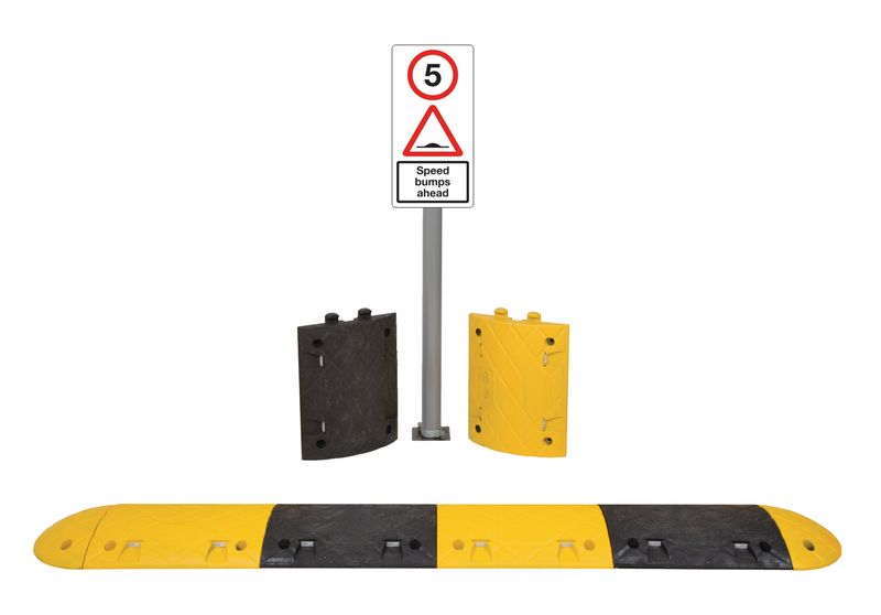 3.3M 5Mph Speed Bump Kit Tarmac With Sign Speed Bumps