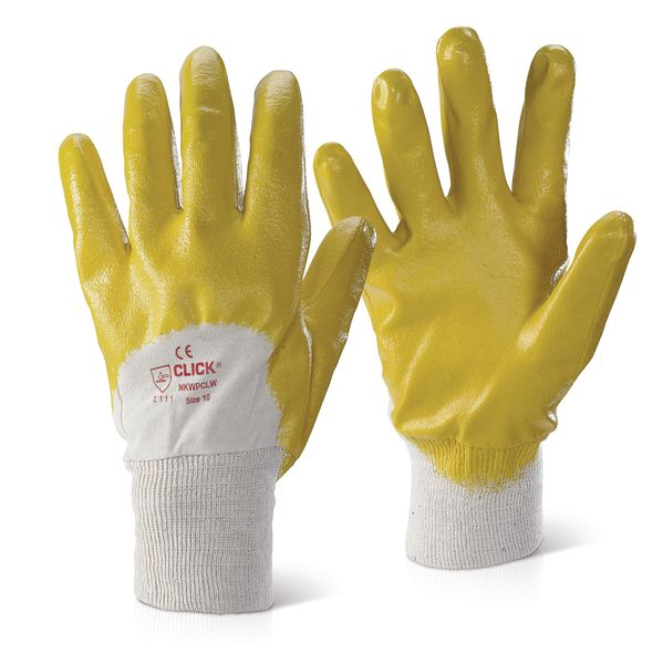 Yellow Nitrile Gloves Size 10 Gloves