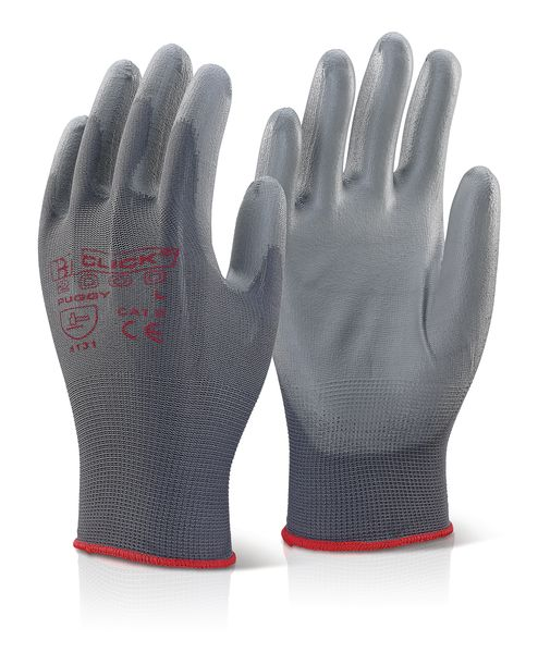 Grey Pu Coated Gloves Size 10 Gloves