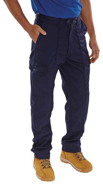 Cargo Navy Trousers 30 Regular Trousers