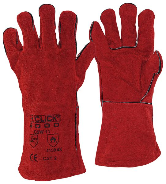 14 Inch Red Welding Gauntlet Cat Ii