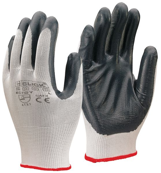 P Air Nitrile P / C Polyester Glove Grey L Gloves