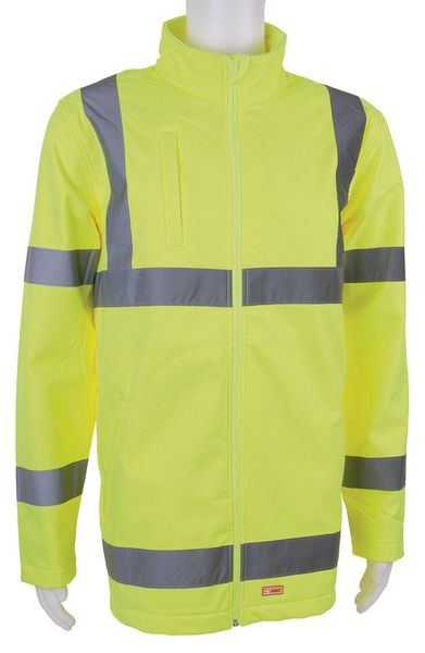 Hi Vis Soft Shell Jacket Yellow Low L Jackets