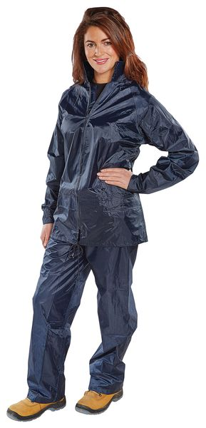 Pvc Water Proof Suit Navy - Size Medium Coverall