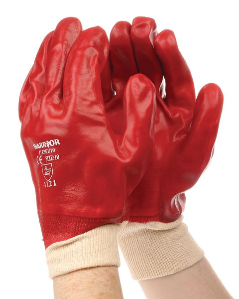 Red Pvc Kw Glove Size 10 Tags