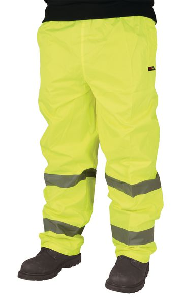 Hi Vis Overtrouser Yellow Size L Large Trousers