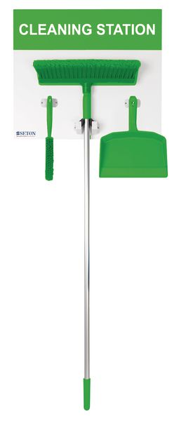 440 x 605 mm Small Dry Shadow Board Green Cleaning Station