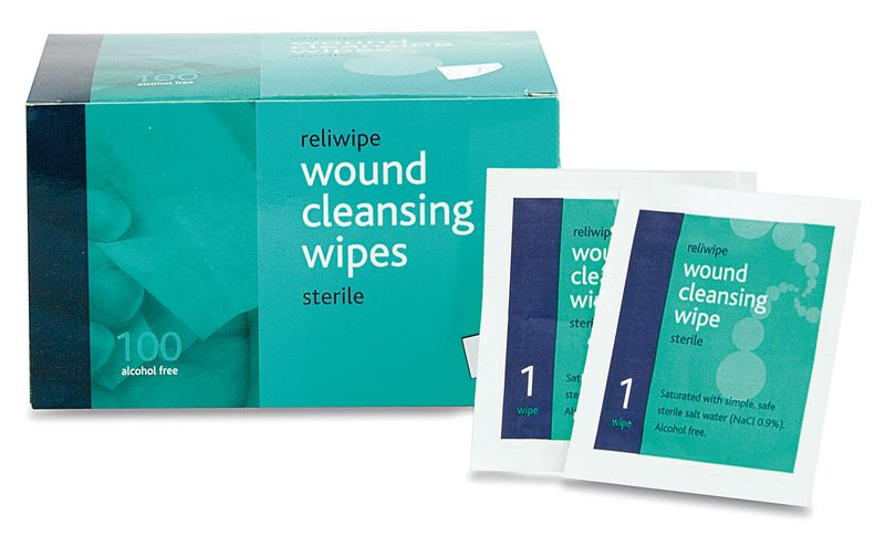 Saline Cleansing Wipes Sterile Pack of 100 Cleaners