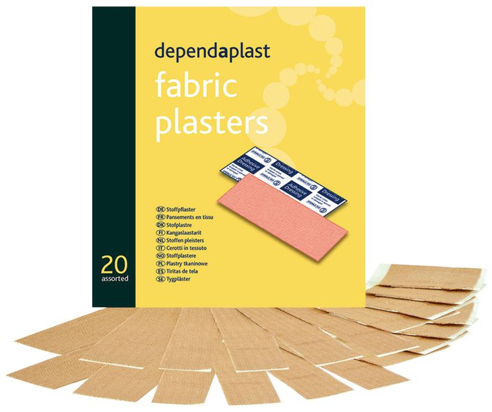 Fabric Plasters Assorted Pack of 20 Plasters