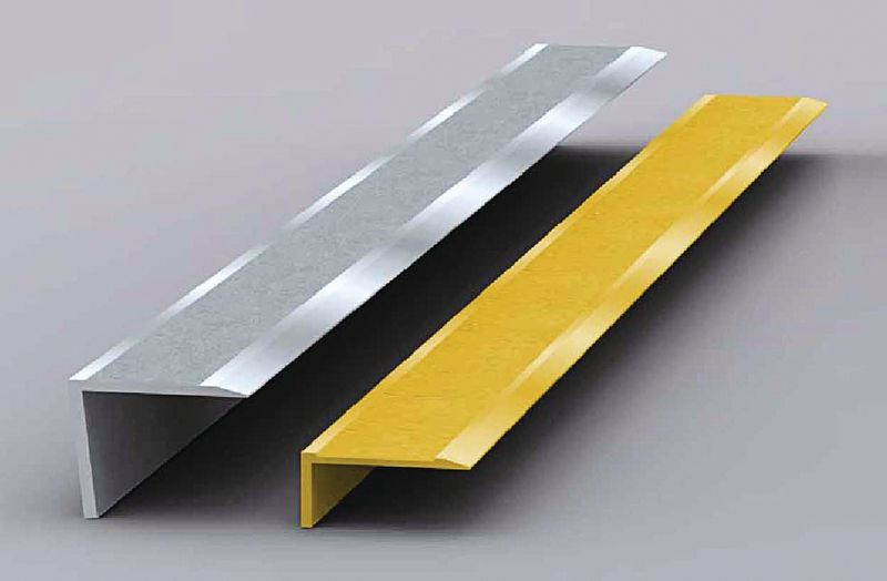 Stair Nosing Aluminium Silver 70 x 30 x 750 mm For Stairs